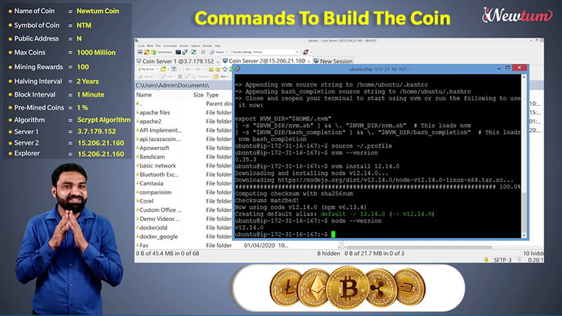 Commands to build the coin